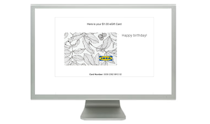 Ikea gift cards from cashstar email them an egift card negle Image collections